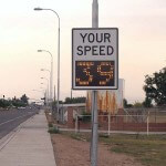 Fast-375 pole mounted radar speed signs