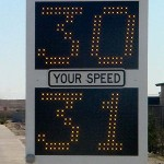 Fast-450 pole mounted speed radar display