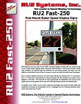 RU2 Fast-250 Pole Mount Radar Display
