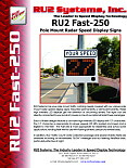 RU2 Fast-250 Radar Speed Sign