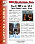 RU2 Fast-350 360 Pole Mount Display
