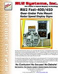 RU2 Fast-400 450 2x Display Radar Sign