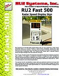 RU2 Fast-500 Radar Speed Dolly
