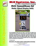 RU2 SpeedBoss-SZ Radar Speed Dolly