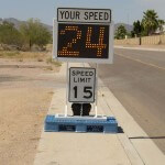 Fast-550 skid mounted speed radar sign