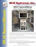 RU2 Fast-510 SpeedBoss Radar Speed Dolly